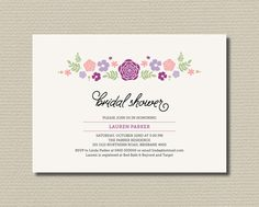 Printable Bridal Shower Invitation  Whimsical by rosiedaydesign, $15.00