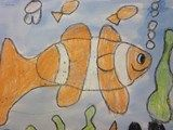 Start with an oval and build your own clownfish.  Good for Kindergarteners!