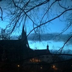 Emauzy, Abbey of the Blessed Virgin Mary and St. Jerome at dawn