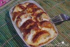 Crostoni pane, mozzarella e alici