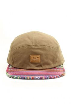 Obey Clothing Monterrico 5-Panel Strapback Hat - Military Olive $30.00