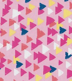Doodles Collection Fabric - Voile Triangles Pink