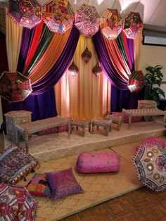 Mehndi and Sangeet Event Decorations Indian Insp