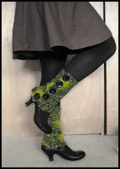 Buttoned-Up Legwarmers (almost spats) with basic tutorial
