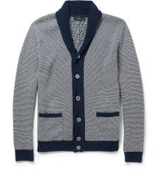 Slowear - Zanone Striped Shawl-Collar Cotton Cardigan   MR PORTER