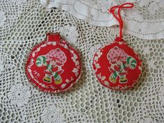 strawberry shortcake christmas ornaments by rivertownvintage