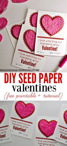 No-candy Valentine's Day cards are becoming more and more common, and these DIY Seed Paper Valentines are a fun, eco-friendly way to celebrate the holiday without the sweets.