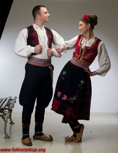 Serbian couple in traditional clothing by chilloutdudes