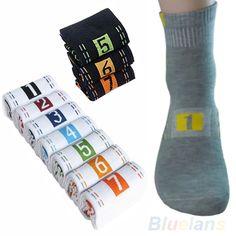 Hot 7 Pairs/Lot Week Casual Mens Fashion Dress Socks Men Cotton Ankle Socks Crew Sock For Gift 02HW 4N8I 7FQA #Affiliate