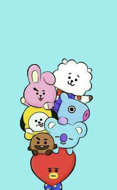 Find images and videos about kpop, bts and wallpaper on we heart it - the a Namjoon, Bts Taehyung, Bts Bangtan Boy, Jimin, Hoseok, Foto Bts, Cartoon Wallpaper, Bts Wallpaper, Fanart Bts