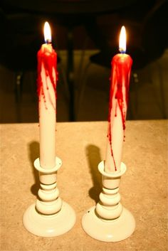 DIY Bleeding Candles For Halloween