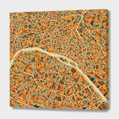 """""""Paris"""", Numbered Edition Canvas Print by Jazzberry Blue - From $89.00 - Curioos"""