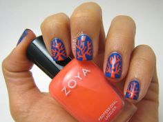 Casa de Polish: 33DC Coral (Animals) Nails