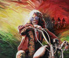 Professional artist Tom Noll of Creative Bone Artworks creates giclee prints from original canvas oil painting portrait of Janis Joplin queen of the blues Urban Street Art, Alternative Art, Janis Joplin, Love Photography, Fun To Be One, Art Google, Rock Art, Rock N Roll, Vibrant Colors