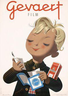 Donald Brun. 1946 #poster #donaldbrun #gevaert