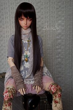 Little Rebel by AyuAna on Flickr. Bjd fashion inspiration, lace and layers