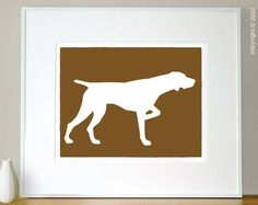 Mod German Shorthaired Pointer Fine Art Print 8x10 by ModDogShop