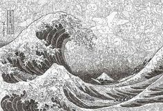 raging sea zentangle - Google Search