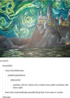 Harry Potter combined with Starry night ♥