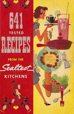 50's style illustration cookbook