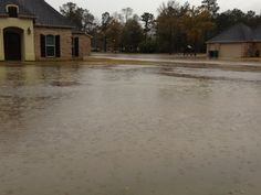 Yards flooded in north Vidor, area. Jan. 9, 2013.  Jill and Kaseys house on left :(