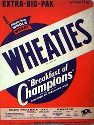 General Mills: Wheaties, breakfast of champions, Big G cereals Retro Advertising, Vintage Advertisements, Vintage Ads, Vintage Food, Retro Packaging, Cereal Packaging, General Mills Cereal, Cereal Bars