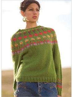 Cactus Blossom Pullover Knitting Pattern Download