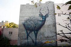 El impresionante arte urbano lleno de movimiento de DALeast.   #arteurbano #streetart #artecallejero