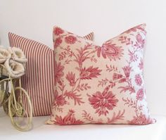 Waverly Timeless  Floral Throw Pillow  by supplierofdreams on Etsy, $32.00