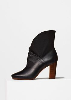 Heritage Boot Wrap Bootie in Nappa - Céline