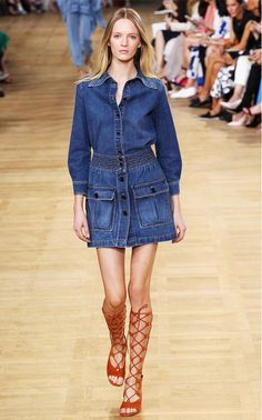 Trend Report: '70s-Inspired Denim via @WhoWhatWear