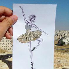 Paper Cutout - Shamekh Bluwi, a Jordan-based architect and fashion illustrator. Silhouette Mode, Cut Out Art, Mode Inspiration, Paper Cutting, Creative Art, Amazing Art, Awesome, Fashion Art, Dress Fashion