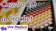 Manta o Cortina 3D a Crochet Ganchillo Paso a Paso