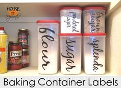 vinyl baking container labels - by House of Hepworths