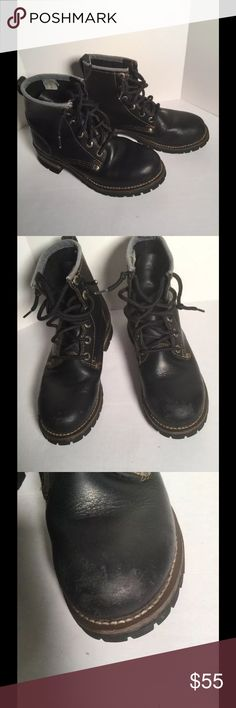 WOMENS SKECHERS BOOTS VINTAGE SIZE 8.5 Nice vintage boots in good condition. Pull tab on left boot has come detached from the boot.  There is some scuffing signs of wear. Oil resistant soles in good condition. Leather upper. See photos for actual condition. The boots do show wear but they are strong and sturdy and have lots of wear left in them. Women's size 8.5. Skechers Shoes Ankle Boots & Booties
