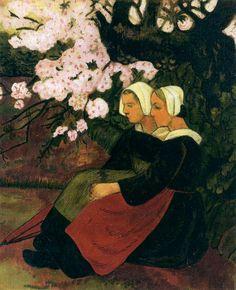 Поль Серюзье «Две бретонки под цветущей яблоней»