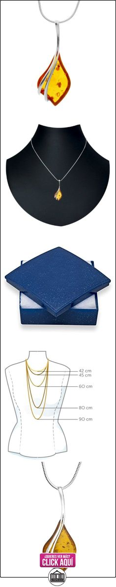 In Collections 0011204111780 - Collar de mujer de plata de ley con ámbar, 42 cm  ✿ Joyas para mujer - Las mejores ofertas ✿ ▬► Ver oferta: https://comprar.io/goto/B004SL3540