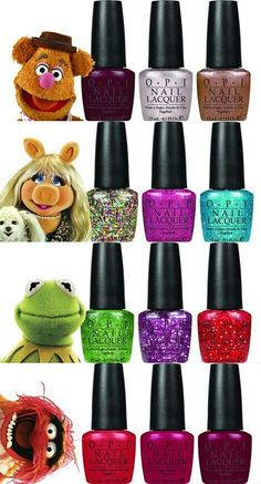 The Muppets OPI Collection all of these colors in this collection are the most used colors in my nail polish bag! Opi Nail Polish, Nail Polish Designs, Opi Nails, Neon Nails, Nail Polishes, Fabulous Nails, Gorgeous Nails, Trendy Nails, Cute Nails