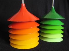 Oh So Lovely Vintage: IKEA back in the day - Vintage Ikea Duett pendant light designed by Bent Boysen