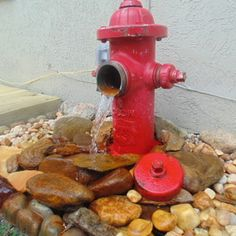 Fire Hydrant water feature #ryobination