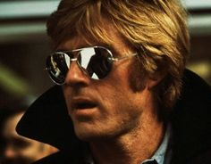 Aviator sunglasses, just like Robert Redford. #menofpinterest