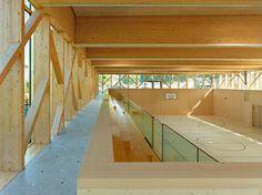 Butikofer de Oliveira Vernay Architectes - School gymnasium, Attalens 2011 (click for big).