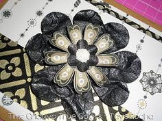 Cartão com flor de corações #diy #pap #tutorial #scrapbooking #cards