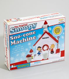 I LOVED my Snoopy Sno-cone Machine!!!
