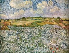 VAN GOGH, Vincent Landscape near Auvers: Wheatfields July 1890, Auvers-sur-Oise Oil on canvas, 74 x 92 cm Neue Pinakothek, Munich
