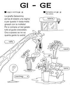 Risultati immagini per schede sul suono gi ge ghi ghe Italian Grammar, Italian Language, Learn To Speak Italian, Everyday Italian, Italian Lessons, Picture Dictionary, Montessori Math, Visual Aids, Learning Italian