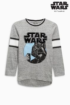 0fc5779b42f0 Buy Grey Star Wars™ Long Sleeve Top from the Next UK online shop