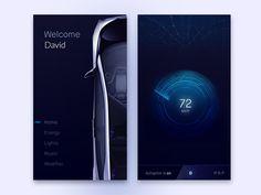 Car App Concept by Mammad Emin Web Design, App Ui Design, Mobile App Design, User Interface Design, Mobile Ui, Car App, Dashboard Car, Information Design, Futuristic Design
