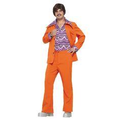 $49.99 - Leisure Suit 70's Orange Disco
