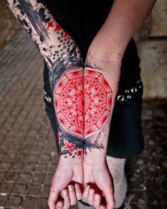 Black & red tattoo